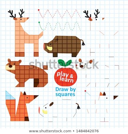 wild animal on blank book template stock photo © bluering