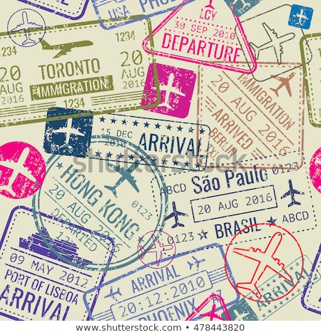 travel background vector with passports stock photo © solarseven