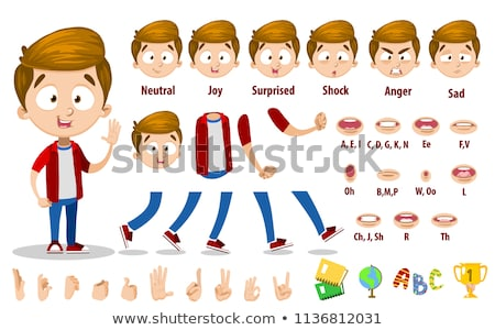 red clothing boystudy stock photo © toyotoyo