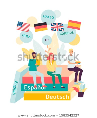 Foreign languages landing page template. Stock photo © RAStudio