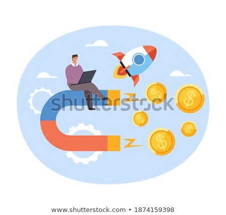 icon · handen · geld · vak · kleur · ontwerp - stockfoto © robuart