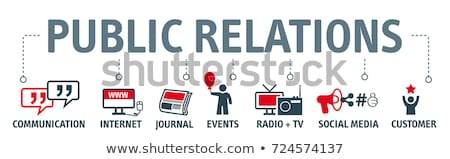 Public Relations Manager. Social relations and communication Stock photo © ConceptCafe