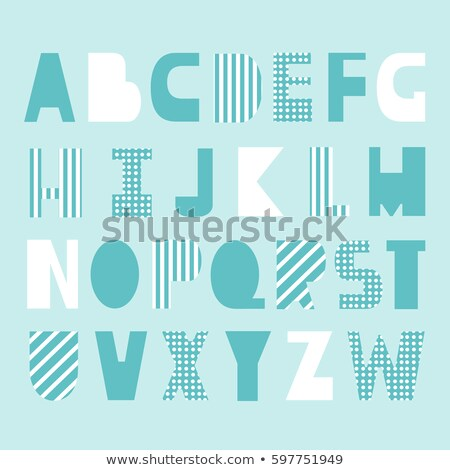 Vector outline modern font. Trendy english contour alphabet. Simple minimalistic latin letters and n Stock photo © ExpressVectors