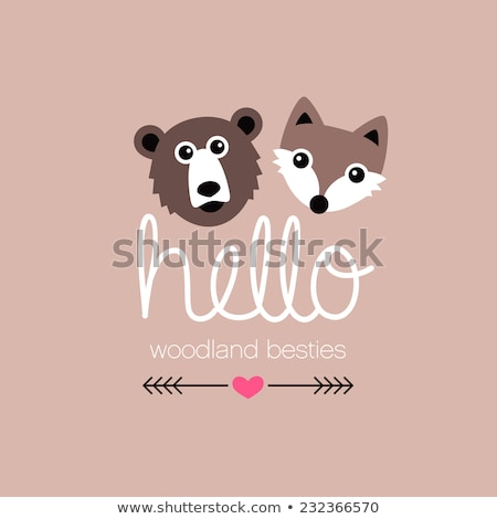 Grizzly bear on note template Stock photo © bluering