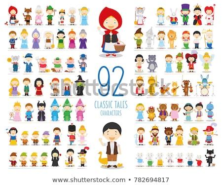 kings cartoon fantasy character group Stock photo © izakowski