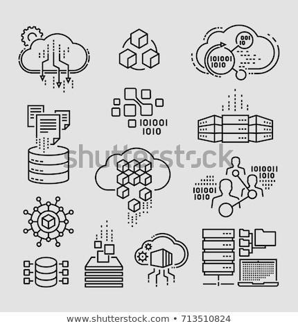 Digital vector big data icons set Stock photo © frimufilms