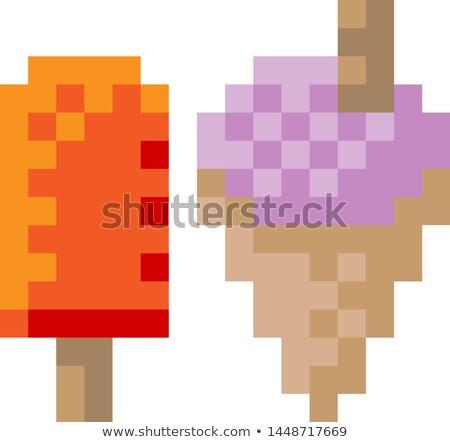アイスクリーム 凍結 ヨーグルト キャンディー ピクセル ビット ストックフォト © Krisdog