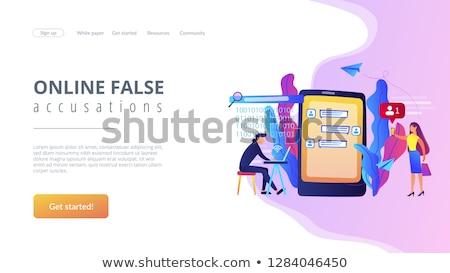 Landing pagina sjabloon internet aanhoudend privacy Stockfoto © RAStudio