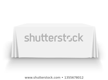 Masa örtüsü 3d illustration yalıtılmış beyaz mutfak restoran Stok fotoğraf © montego