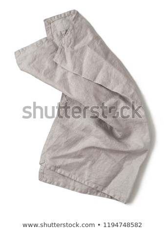グレー リネン ナプキン 光 表 料理の ストックフォト © furmanphoto