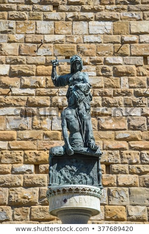 copy of statue of judith and holofernes in florence italy stock photo © boggy
