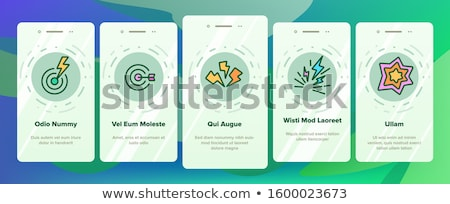 headache elements vector onboarding stock photo © pikepicture