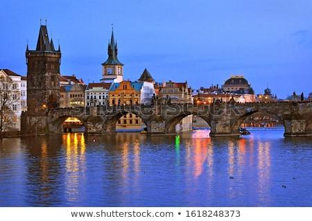 средневековых · башни · моста · Прага · известный · реке - Сток-фото © borisb17