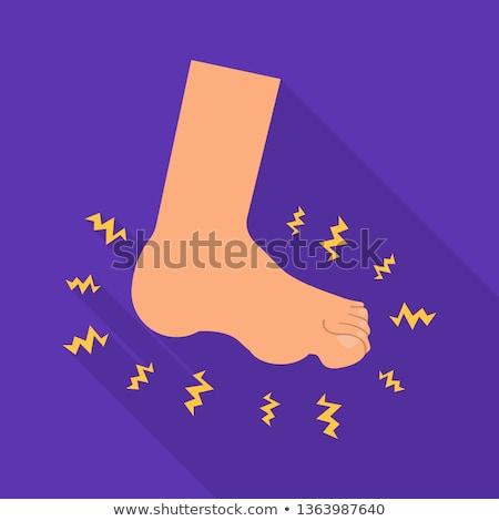 Stóp wektora ikona odizolowany biały Zdjęcia stock © smoki