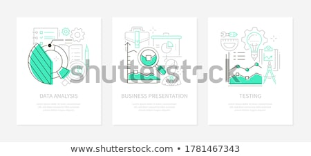 business management   line design style icons set stock photo © decorwithme