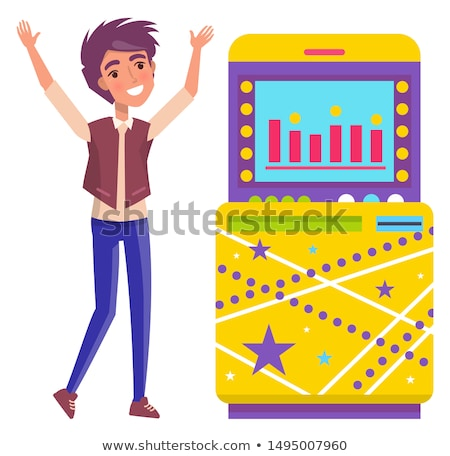 game machine with infocharts monitor with info stock photo © robuart