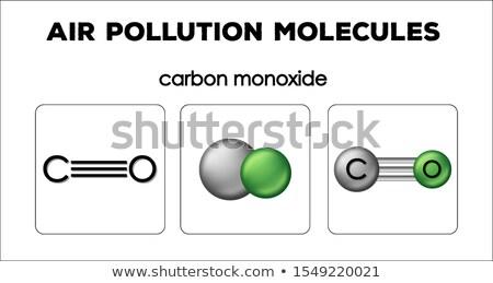 Diagram tonen lucht verontreiniging moleculen koolstof Stockfoto © bluering