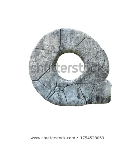 Concrete fracture font Letter Q 3D Stock photo © djmilic