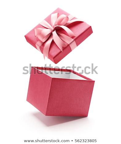 Natal rosa caixa de presente papel topo ver Foto stock © furmanphoto