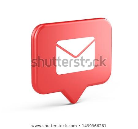 3D · почты · икона · синий · стрелка · изолированный - Сток-фото © cidepix
