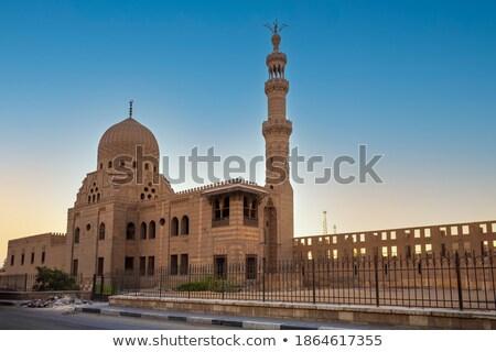 Begrafenis complex Cairo zonsondergang hemel Egypte Stockfoto © artush
