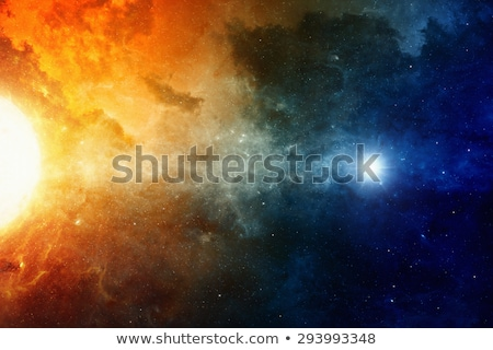 Astronomical scientific background, nebula and stars in deep space Stock photo © NASA_images