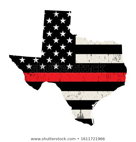State of Texas Firefighter Support Flag Illustration Stock photo © enterlinedesign