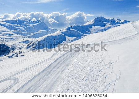 View of mountains and ski slopes  Stock photo © JanPietruszka