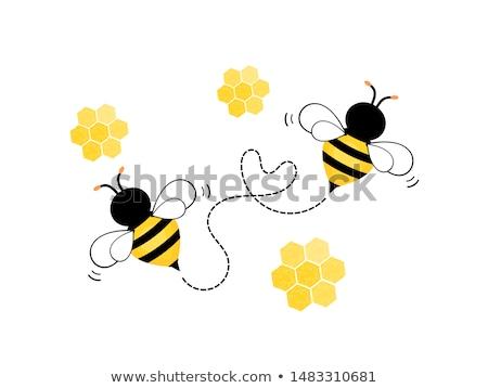 Dziecko ul pszczół ilustracja wiosną zabawy Zdjęcia stock © adrenalina
