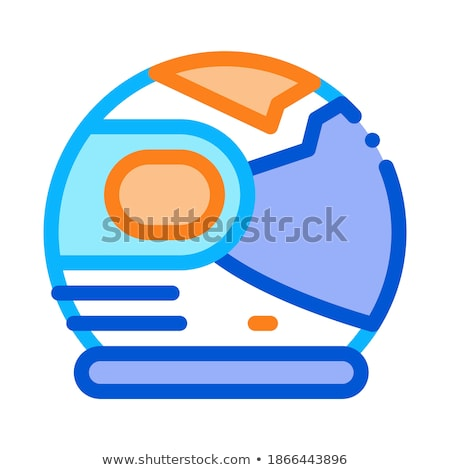 Spaceman Helmet Mask Icon Outline Illustration Stock photo © pikepicture