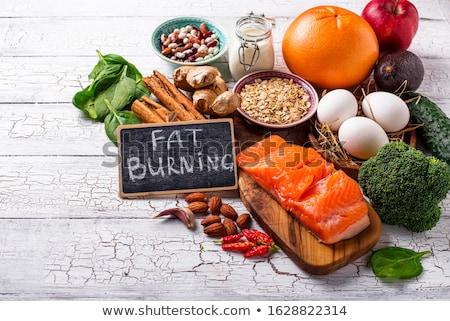 Kövér égő termékek súly egészséges étel hal Stock fotó © furmanphoto