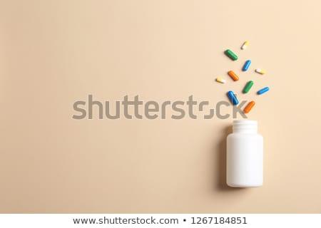 üveg különböző tabletták fehér orvosi egészség Stock fotó © grafvision