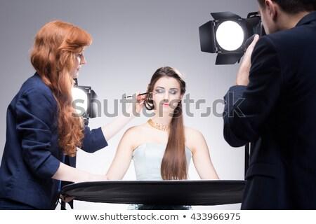 カメラマン モデル アシスタント セット 写真 作業 ストックフォト © Kzenon