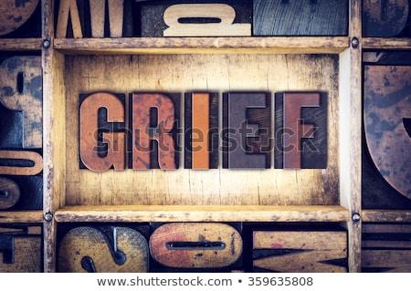 Morte vintage legno tipo parola Foto d'archivio © enterlinedesign