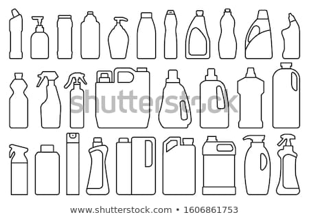 Disinfection Tool Icon Vector Outline Illustration Stock photo © pikepicture