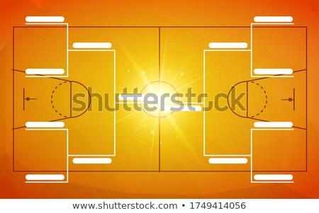 トーナメント テンプレート チーム オレンジ バスケットボール フィールド ストックフォト © evgeny89