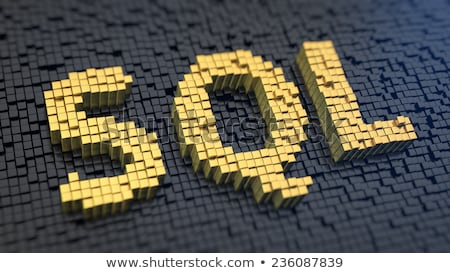 SQL Structured Query Language Acronym Lettering Stock photo © supertrooper