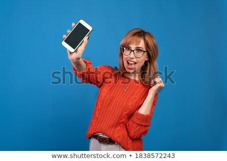 Fotó szép örömteli nő nevet készít Stock fotó © deandrobot