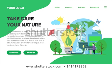 Eco house concept landing page. Stock photo © RAStudio