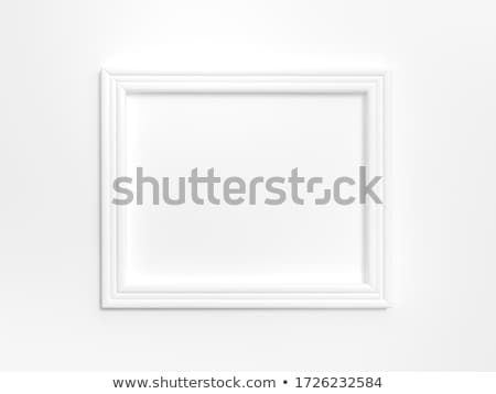 Wooden square shaped picture frame 3D Stock photo © djmilic