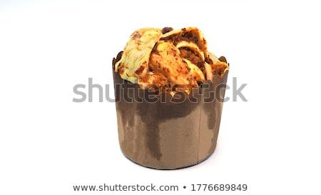 Chicken floss bun with cup of coffee Stock photo © kenishirotie
