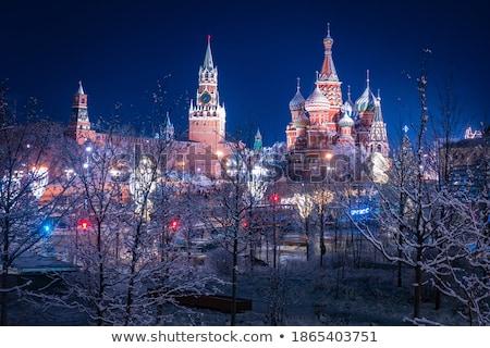 Moscou · noite · da · cidade · cidade · rio · água · azul - foto stock © paha_l