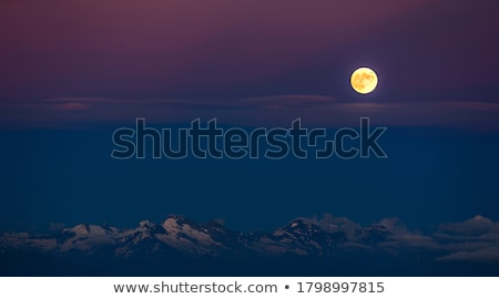 Stock photo: Zugspitze by night
