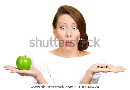 面白い 女性 リンゴ 退屈 ストックフォト © smithore