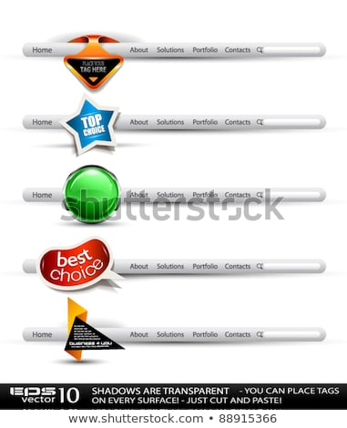 set of modern high tech style search banners stock photo © davidarts