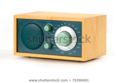 Vintage AM FM Radio on White Background Stock photo © Qingwa