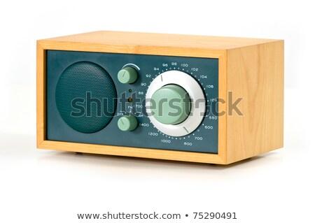 Vintage AM FM Radio on White Background stock photo © Qingwa