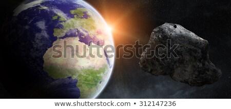 Meteor Striking Earth Atmosphere Stock photo © sdecoret