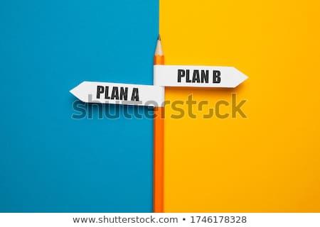 Ki b-terv választ terv iskolatábla üzlet Stock fotó © bbbar
