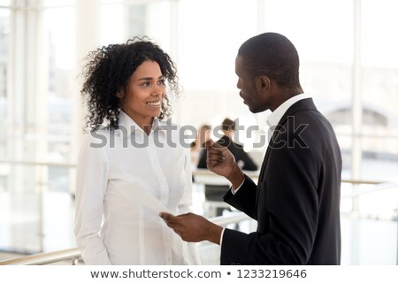 Jovem feminino aprendiz documento negócio menina Foto stock © photography33